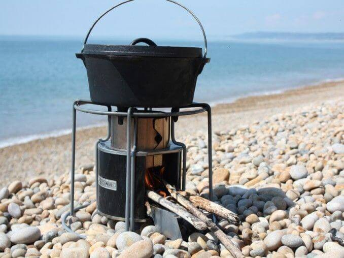 Grill set or portable burner