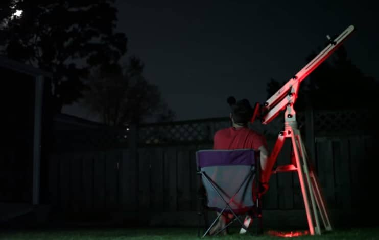 use binoculars for night sky observing