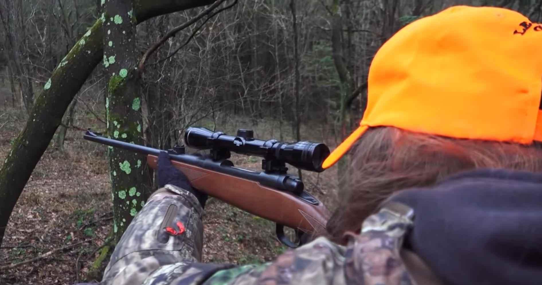 Inspecting Through Sighting gun hunting