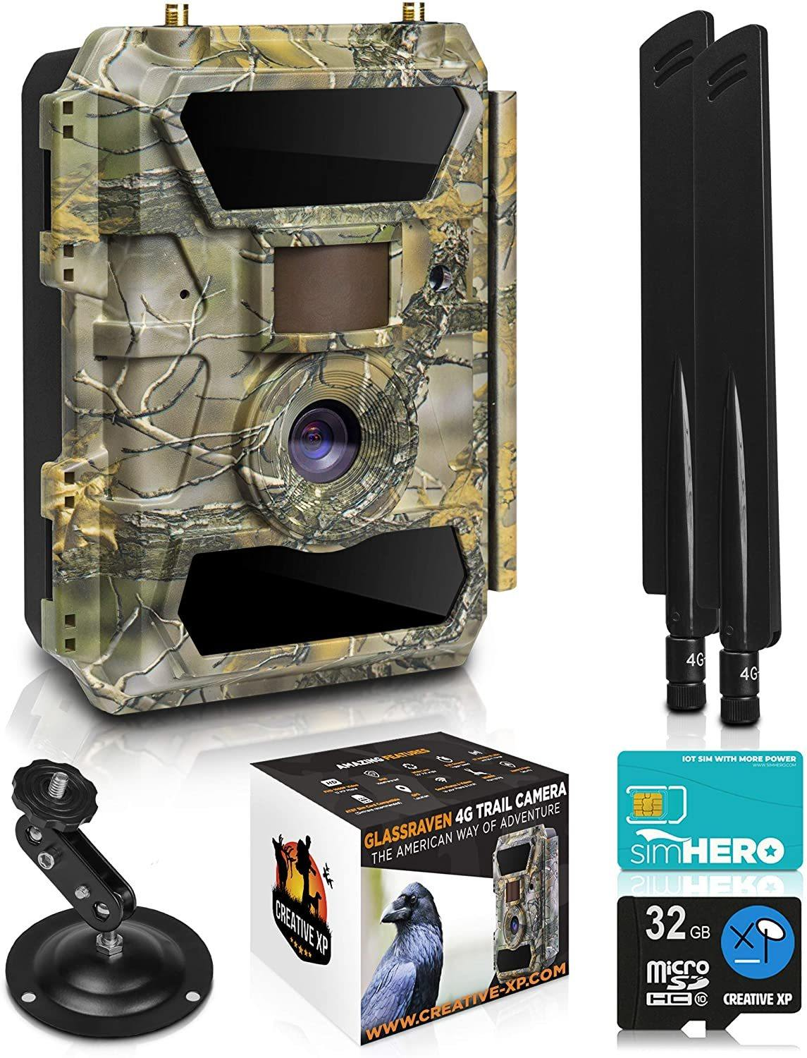 LTE 4G Cellular Trail Cameras – Outdoor WiFi Full HD Wild Game Camera with Night Vision